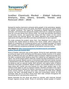 Leather Chemicals Market 2014 Share, Trend, Segmentation and Forecast