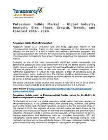 Potassium Iodide Market 2016 Share, Trend, Segmentation and Forecast