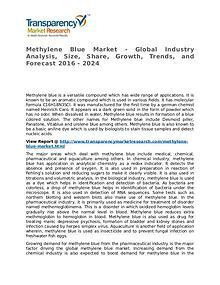 Methylene Blue Market 2016 Share, Trend, Segmentation and Forecast