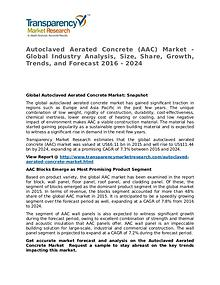 Autoclaved Aerated Concrete Market 2016 Share, Trend and Forecast