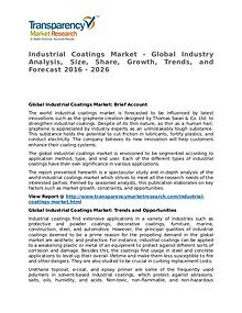 Industrial Coatings Market 2016 Share, Trend and Forecast
