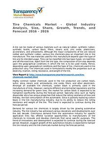 Tire Chemicals Market 2016 Share, Trend, Segmentation and Forecast