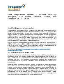 Fuel Dispenser Market 2016 Share, Trend, Segmentation and Forecast