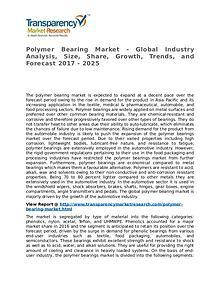 Polymer Bearing Market 2017 Share, Trend, Segmentation and Forecast