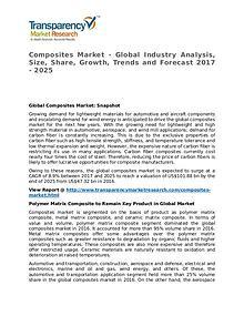 Composites Market 2017 Share, Trend, Segmentation and Forecast