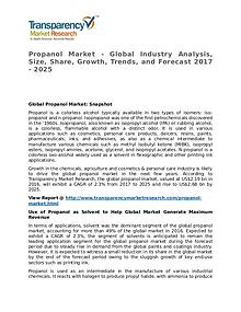 Propanol Market SWOT Analysis Of Top Key Player Forecasts To 2025