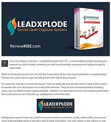 LeadXplode Review from ReviewKISS.com