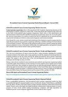 Personalized Cancer Genome Sequencing Market