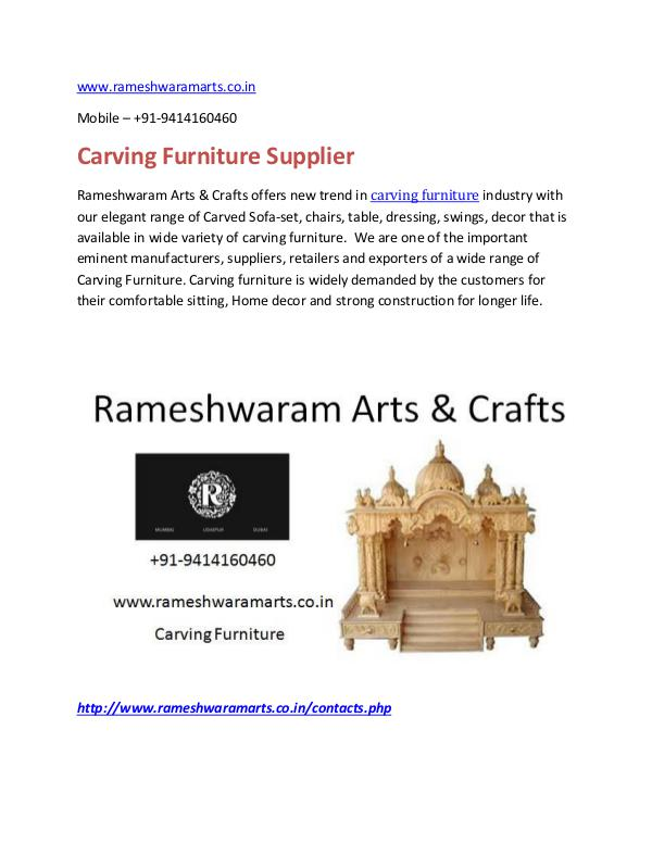 Crving Furniture Supplier