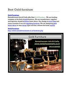 Best Gold Furniture