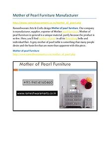 Mother of Pearl Furniture Manufacturer
