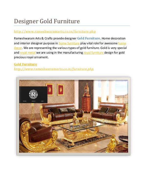 Best Gold Furniture Designer Gold Furniture
