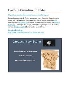 Carving Furniture Supplier