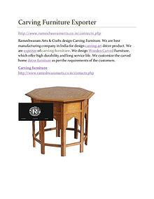 Carving Furniture Supplier