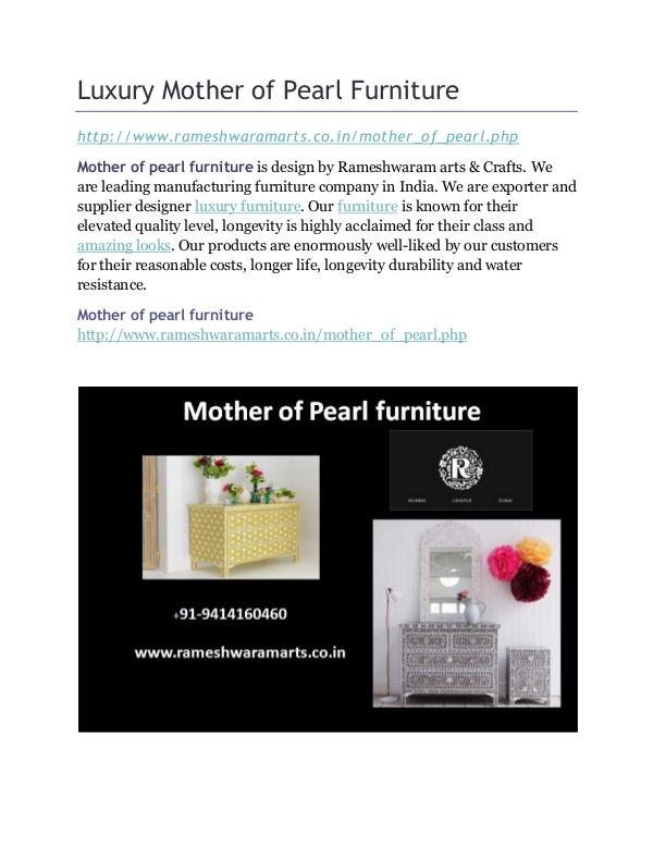 Luxury Mother of Pearl Furniture