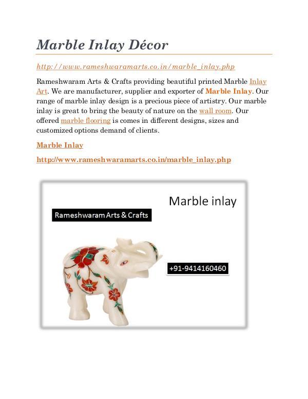 Marble Inlay Marble Inlay Decor