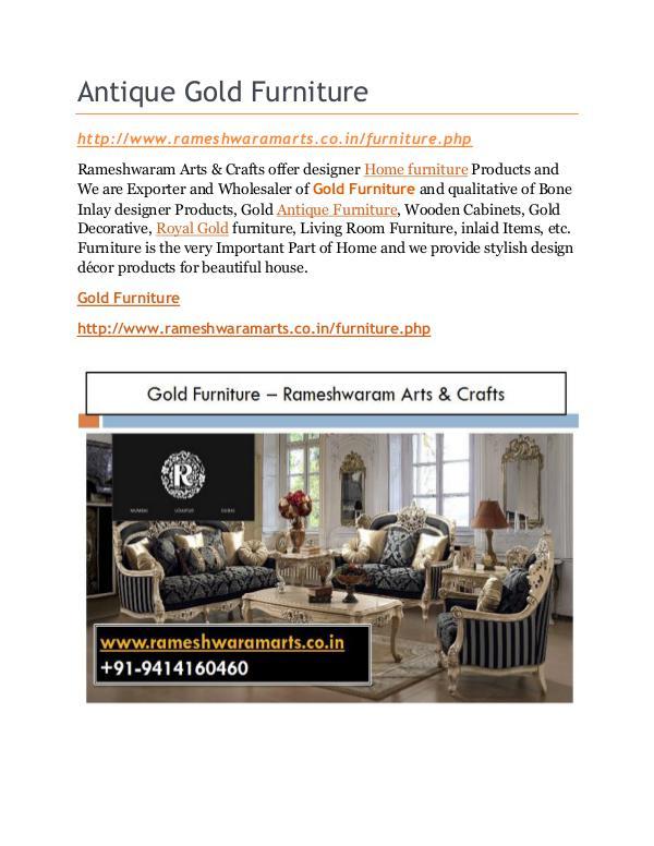 Gold Furniture Store Antique Gold Furniture