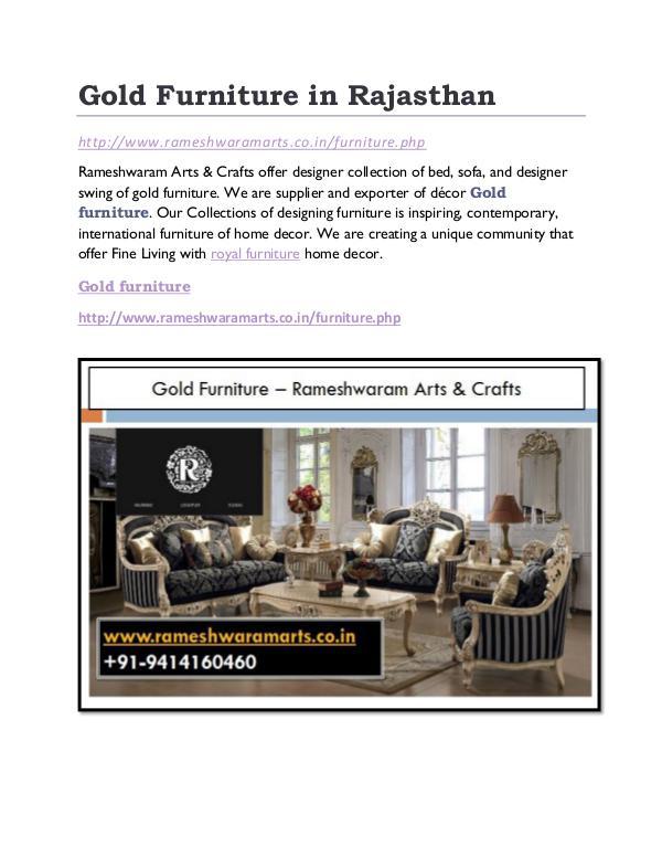 Gold furniture Manufacturer Gold Furniture in Rajasthan
