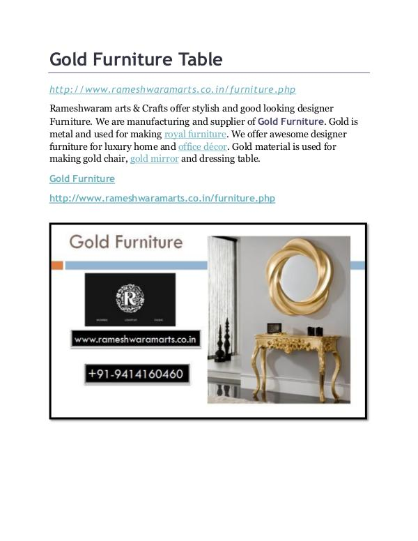 Gold Furniture Store Gold Furniture Table