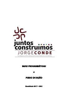 Jorge Conde - Bases Programáticas da Candidatura a Presidente do IPC