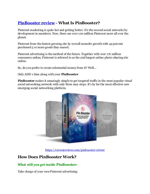 PinBooster Review and GIANT $12700 Bonus-80% Disco