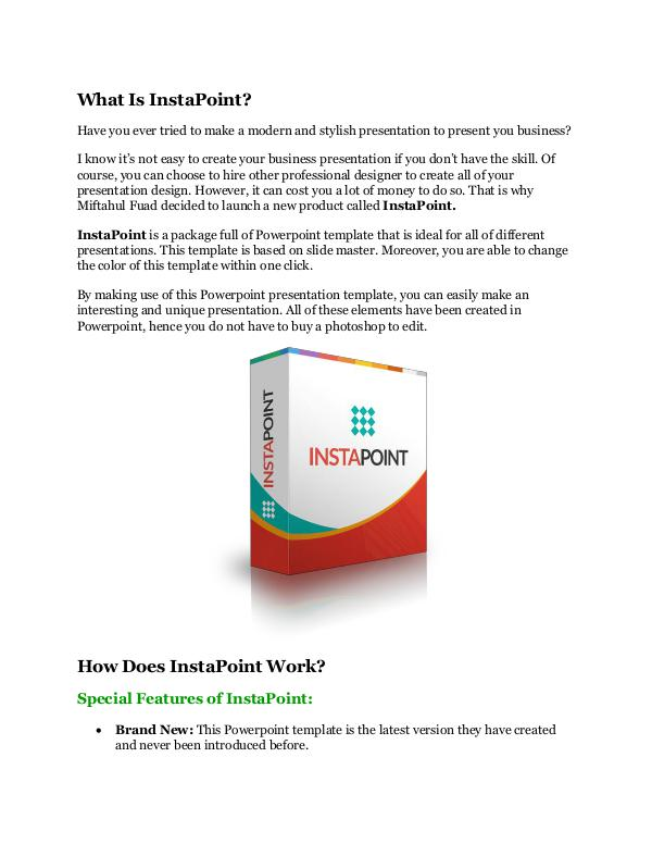 InstaPoint Review - MEGA $22,400 Bonus & 65% DISCO