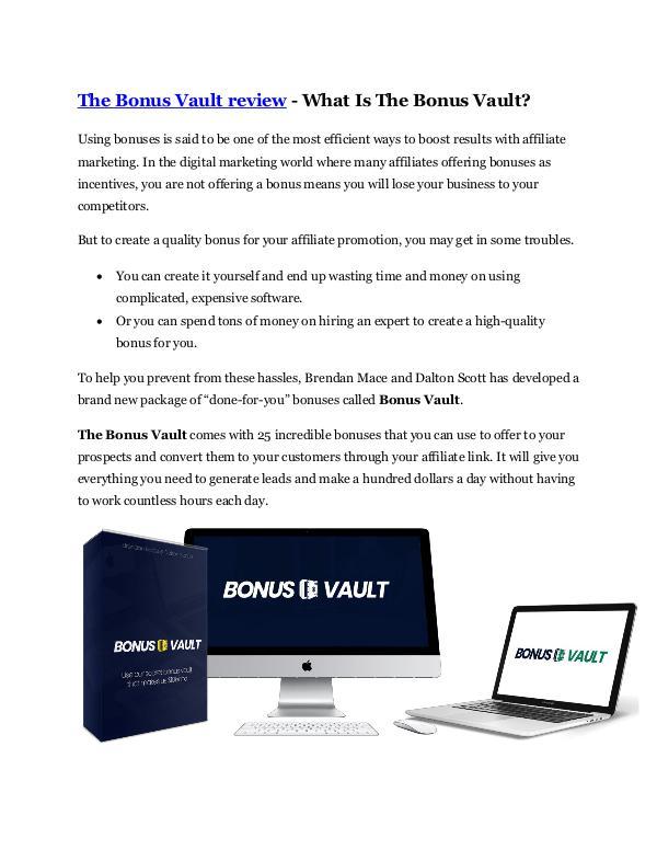 The Bonus Vault review & The Bonus Vault $22,600 b