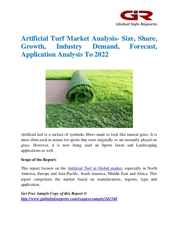Global Info Research- market Research Reports Artificial Turf Market