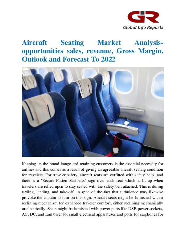 Global Info Research- market Research Reports Aircraft Seating Market