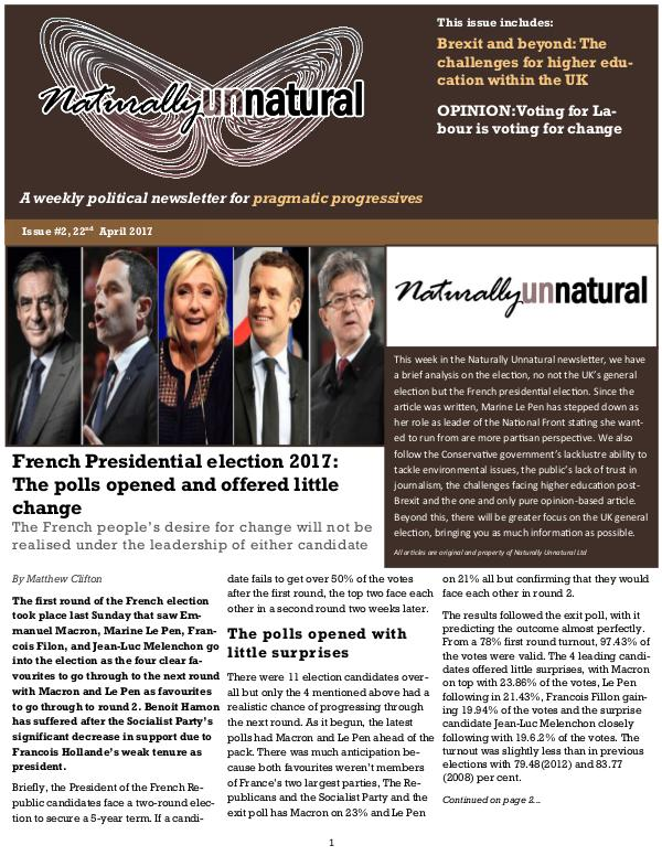 Naturally Unnatural Issue #3: 29th April 2017
