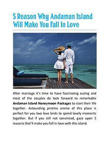 5 Reason Why Andaman Island Will Make You Fall In Love