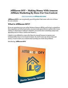 Affiliazon DFY Review demo - $22,700 bonus