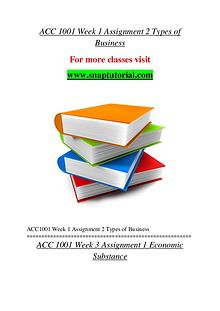 ACC 1001 help A Guide to career/Snaptutorial