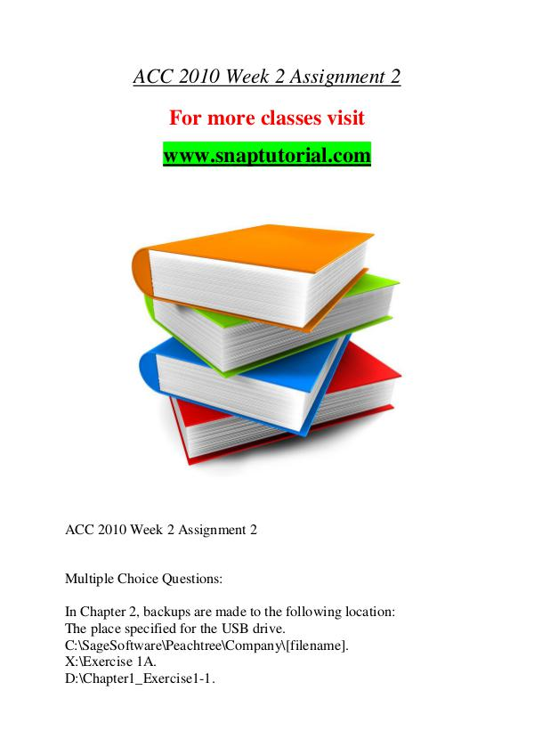 ACC 2010 help A Guide to career/Snaptutorial ACC 2010 help A Guide to career/Snaptutorial