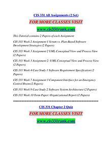CIS 331 RANK Learn Do Live /cis331rank.com