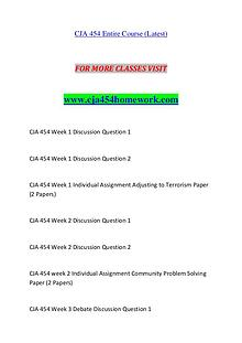 CJA 454 HOMEWORK Exciting Results / cja454homework.com