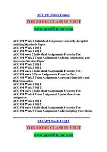 ACC 491 TUTOR Great Stories /acc491tutor.com