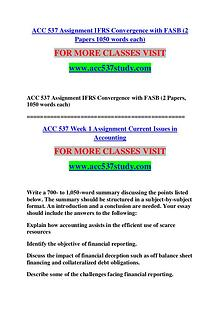 Acc 537 STUDY Great Stories /acc537study.com