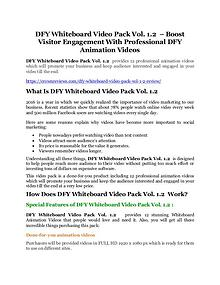DFY Whiteboard Video Pack Vol. 1.2 REVIEW - DEMO of DFY Whiteboard Video Pack Vol. 1.2