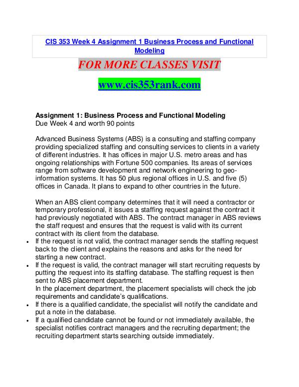 CIS 353 RANK Learn Do Live /cis353rank.com CIS 353 RANK Learn Do Live /cis353rank.com