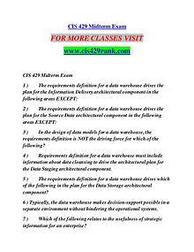 CIS 429 RANK Learn Do Live /cis429rank.com