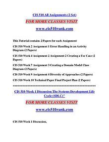 CIS 510 RANK Learn Do Live /cis510rank.com
