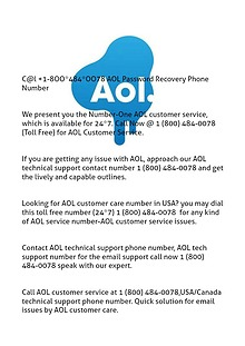 di@l +18OO-484-OO78 AOL password recovery phone number