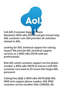Consult @ 1-8OO-484-OO78 If AOL is Not Working Or AOL having issues