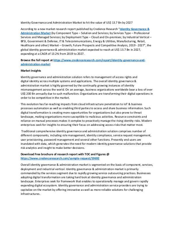 Identity Governance & Administration Market