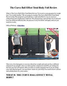 The Curve Ball Effect Total Body Workout / Reviews