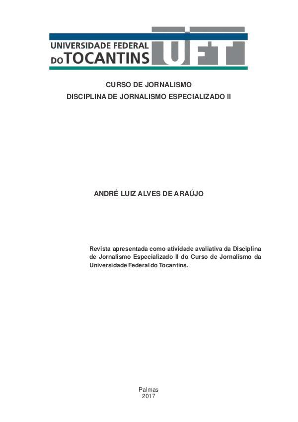 Revista Nova Rota Reportagem Jornalismo Especializado II