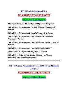 CIS 517 RANK Learn Do Live /cis517rank.com