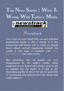 Top News Stories : What Is Wrong With Today's Media