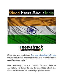 Good Facts About India